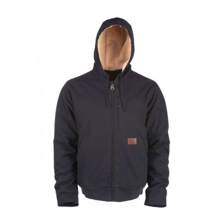 DICKIES FARNHAM CANVAS ZIP-UP JACKET BLACK