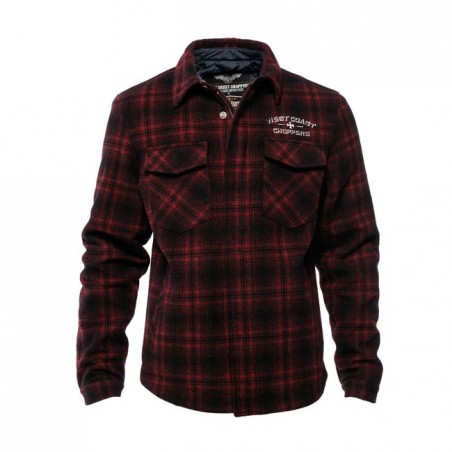 WCC QUILTED GANG JACKET RED/BLACK
