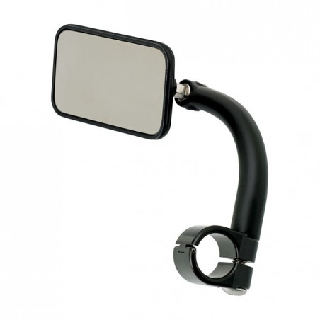 "BILTWELL UTILITY MIRROR RECTANGLE CLAMP-ON-1"" BLACK"