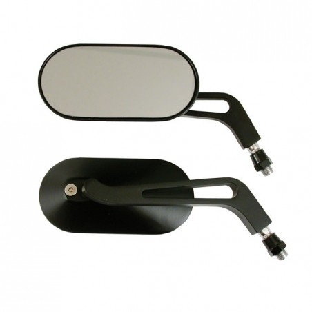 MIRROR SET OVAL BLACK