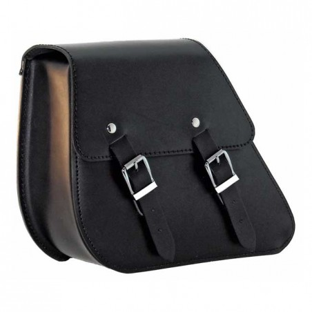 LONGRIDE, LEATHER SWINGARM BAG BLACK